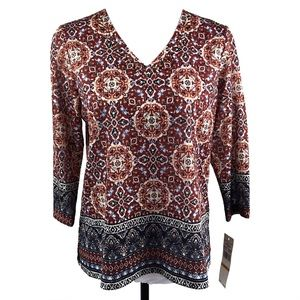 Alfred Dunner | Blouse Gypsy Moon Petite Small NWT